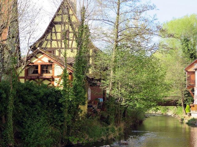 Alsace sélestat timbered house.
