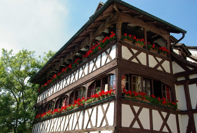 Alsace strasbourg timbered house.