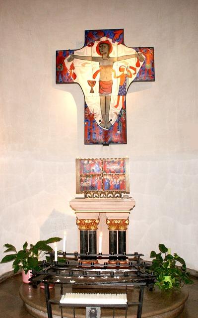 Altar church nave, religion.