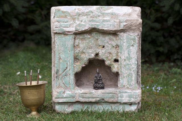 Altar temple stone niche.