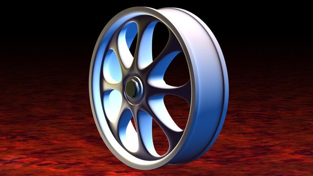 Alu alloy wheel aluminium.
