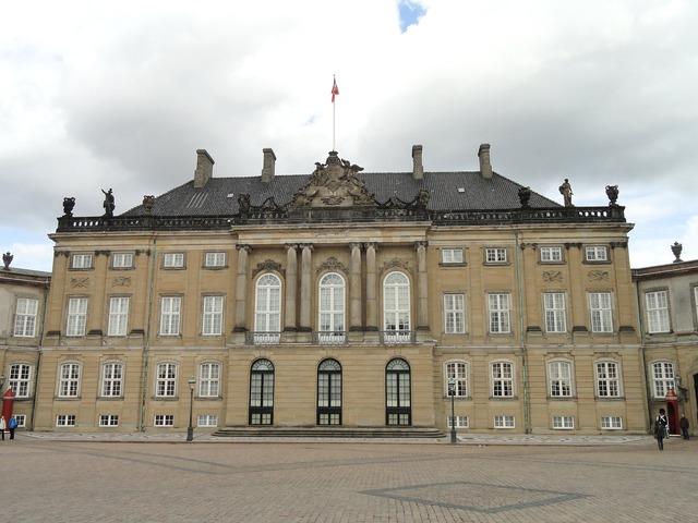 Amalienborg palace copenhagen, architecture buildings.