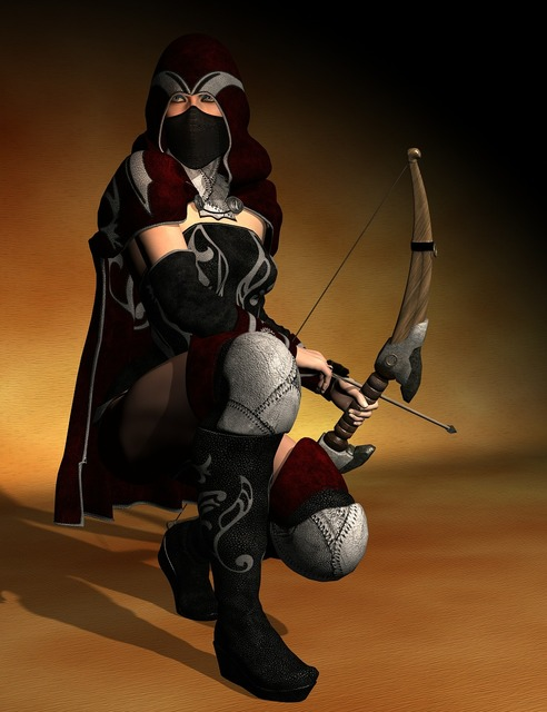 Amazone woman warrior, beauty fashion.
