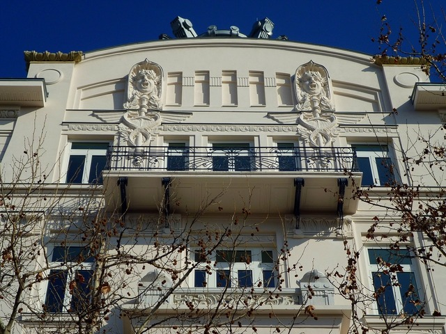 American embassy viennese art nouveau style freedom square, architecture buildings.