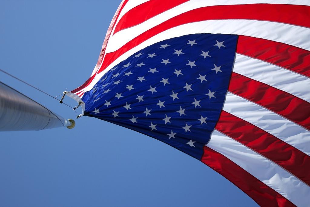 American flag flag pole patriotic.