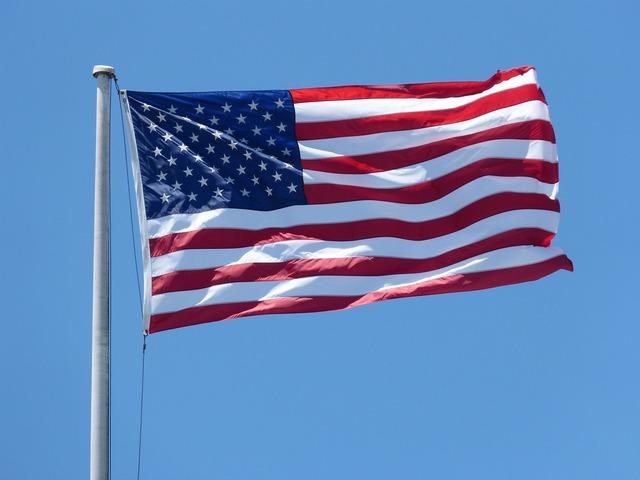 American flag flag waving 4th.