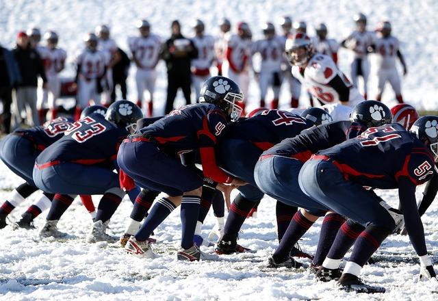 American football football team offense.