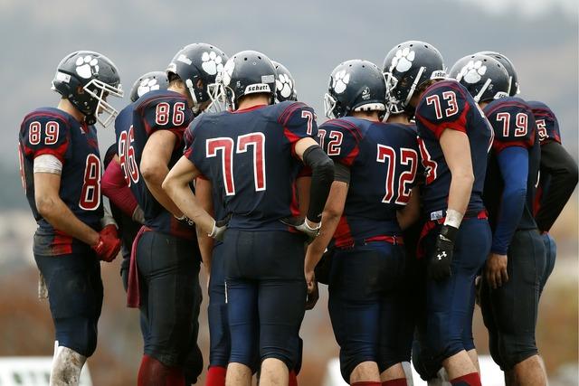 American football football team team.