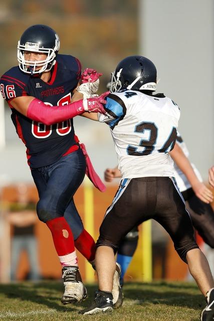 American football player powerful, sports.