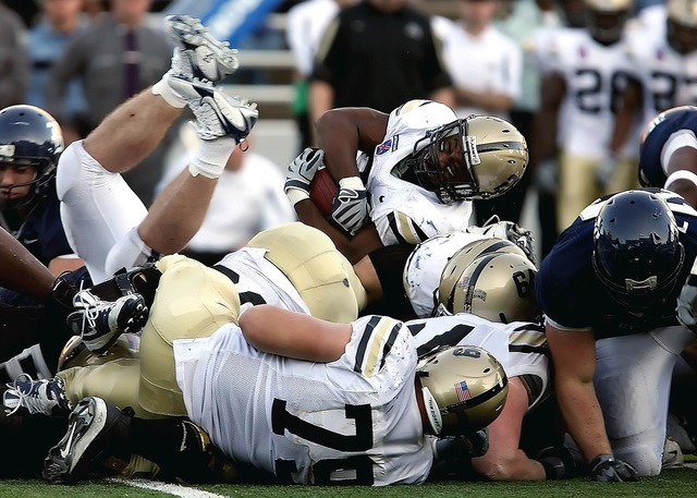American football running back tackle, sports.