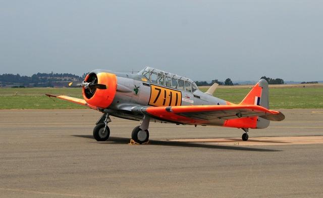 American harvard aircraft airplane.
