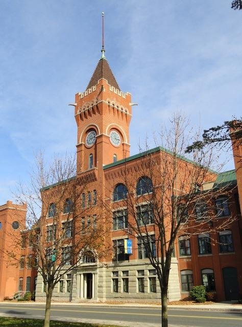 American optical company southbridge massachusetts, architecture buildings.