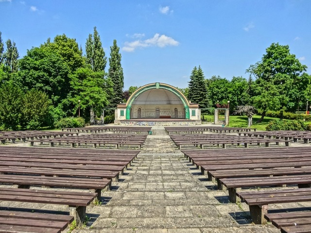 Amphitheater park ludowy stage.