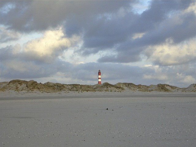 Amrum beach island, travel vacation.