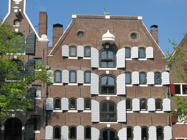 Amsterdam canal home, architecture buildings.
