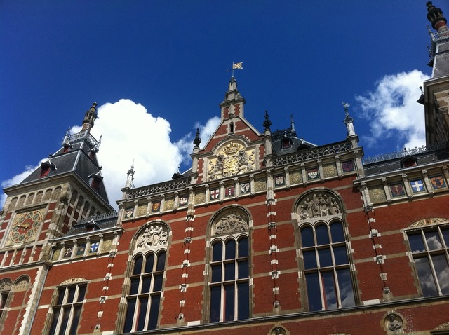 Amsterdam central station building, architecture buildings.