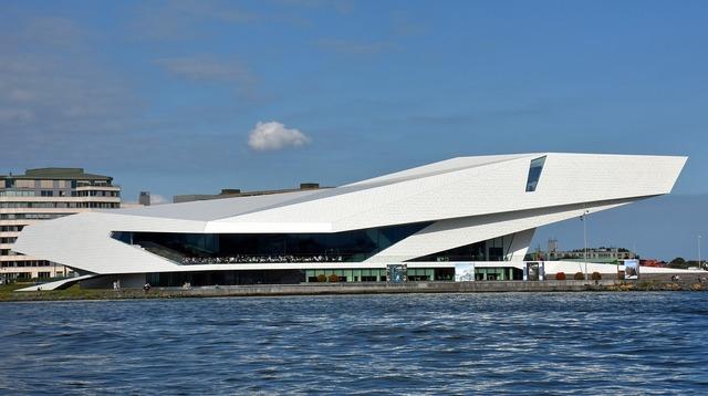 Amsterdam film museum eye film-instituut, architecture buildings.