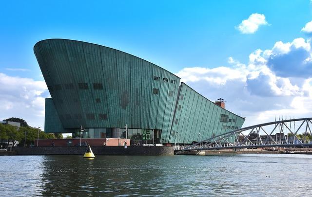 Amsterdam nemo museum, architecture buildings.