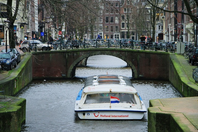 Amsterdam river channel.