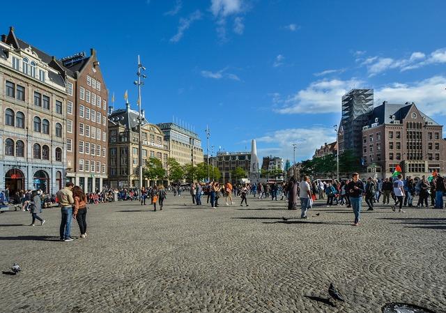 Amsterdam square netherlands.