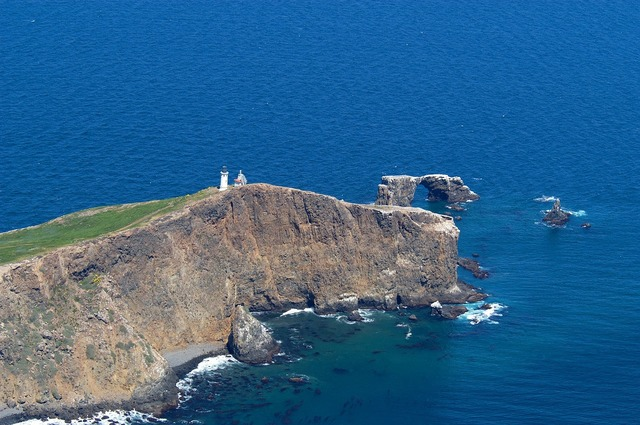 Anacapa island lighthouse building, architecture buildings.