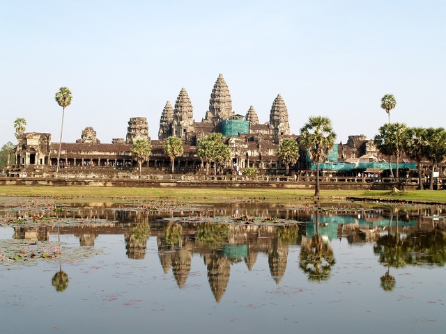 Ancient angkor antique, architecture buildings.