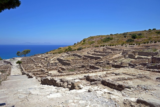 Ancient city greece rhodes island.