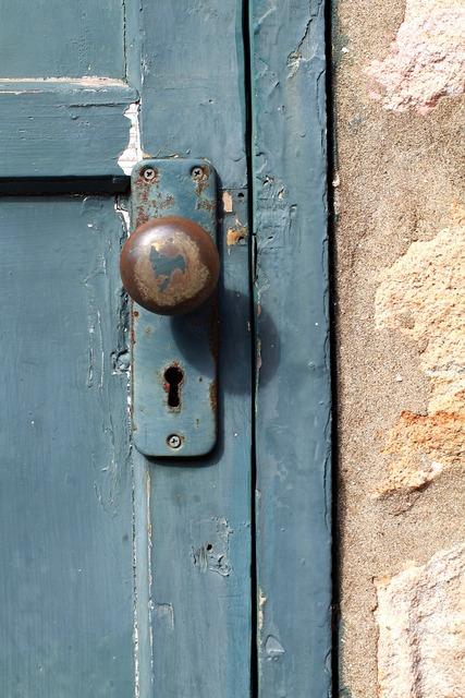 Ancient door lock.