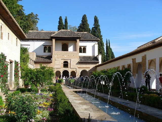 Andalusia alhambra spain, architecture buildings.
