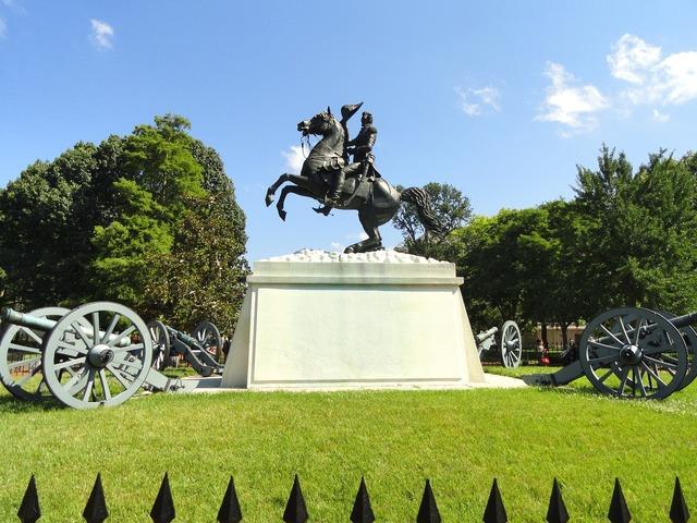 Andrew jackson sculpture memorial park, architecture buildings.