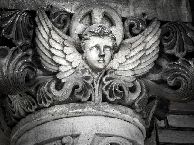 Angel castle statue.