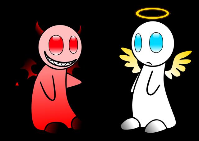 Angel devil gut.