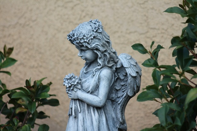 Angel garden art sculpture, religion.