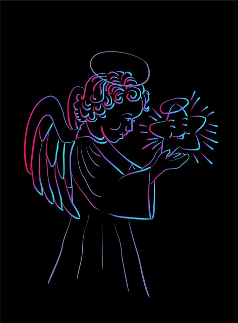 Angel guardian angel christmas angel, emotions.