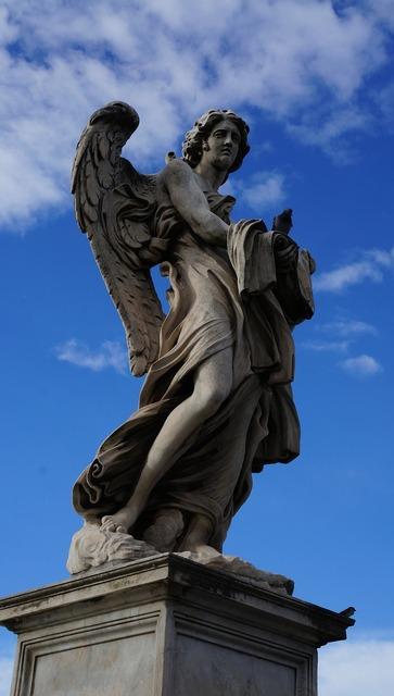 Angel rome italy.