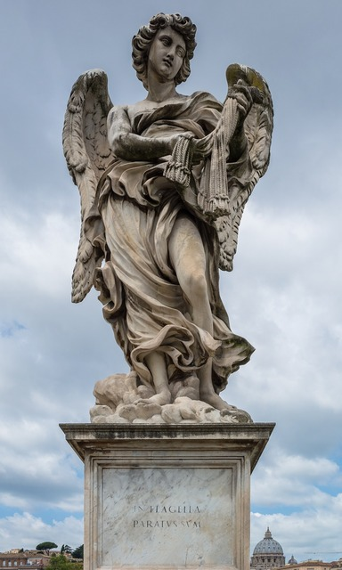 Angel statue stone.