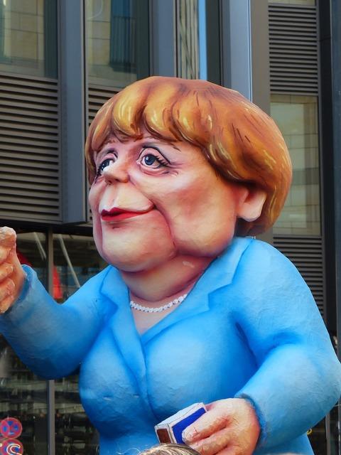 Angela merkel politician caricature.