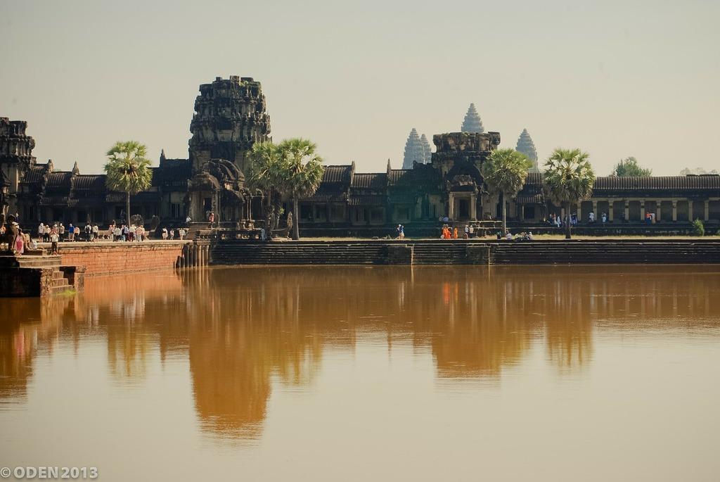 Angkor wat ancient cambodia, architecture buildings.