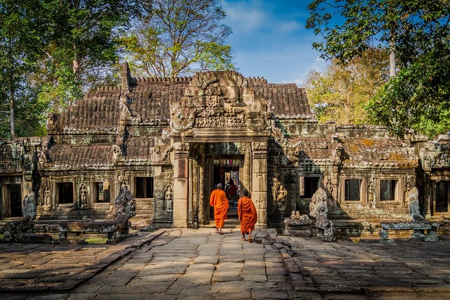 Angkor wat cambodia, architecture buildings.