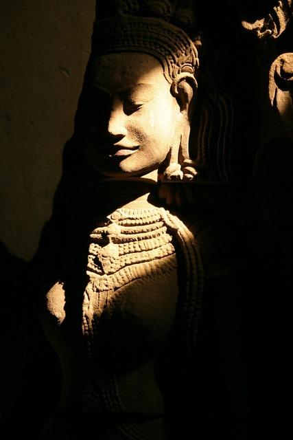 Angkor wat church goddess, religion.