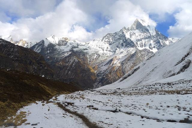 Annapurna himalaya nepal, nature landscapes.