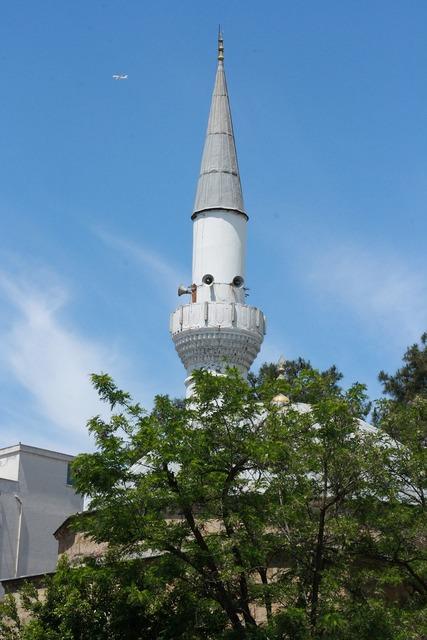 Antalya minaret aircraft.