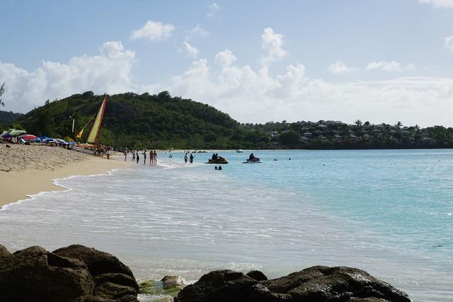 Antigua caribbean road, transportation traffic.