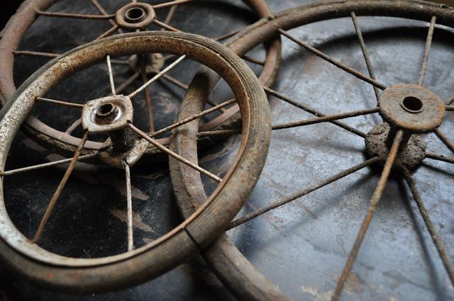 Antique vintage wheel.