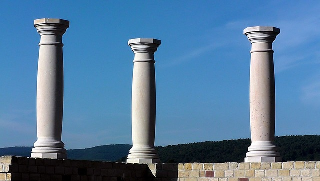Antiquity architecture pillar, architecture buildings.