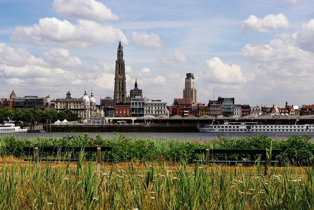 Antwerp belgium skyline.