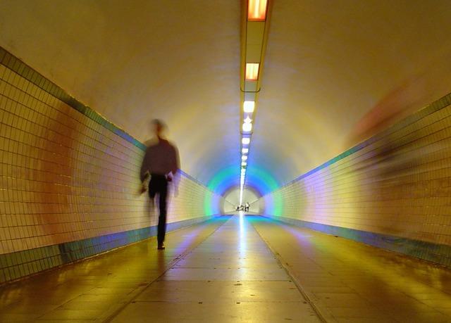 Antwerp belgium tunnel, people.