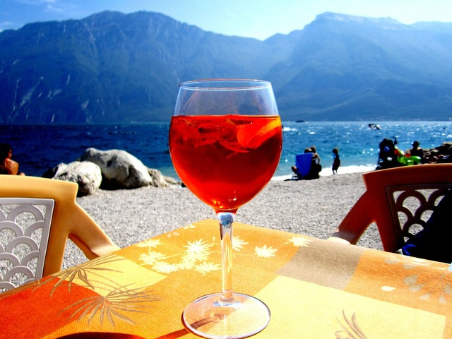Aperol sprizz champagne glass, food drink.