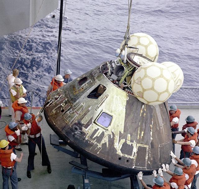 Apollo 13 landing module landing capsule.
