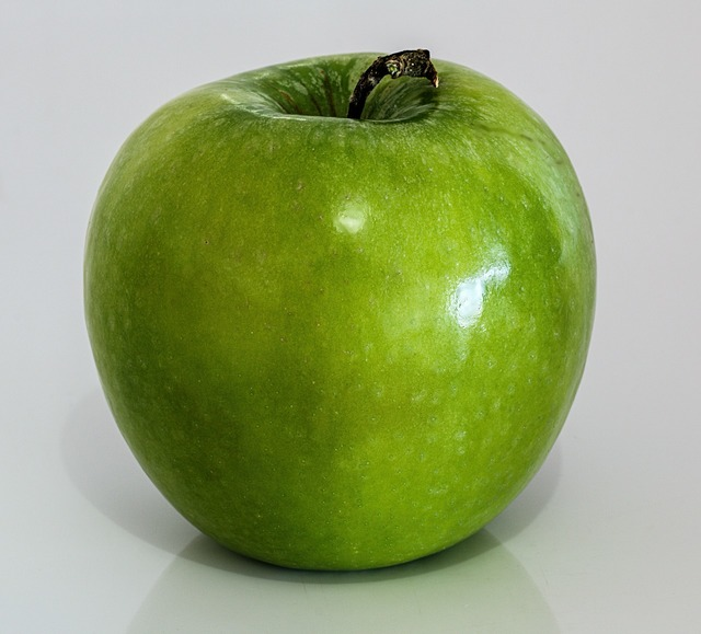 Apple green fruit, food drink.
